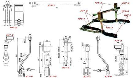 universalsatz f r drei punkt hydraulik 1 kat rosi teh. Black Bedroom Furniture Sets. Home Design Ideas